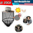 Anti Mosquito Hat Net Head Face Protector Bug Mesh Fishing Camping Sun Cap