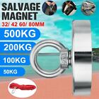 1100lbs Super Strong Salvage Magnet Pot Magnet Deep Sea Fishing Hook w/ 10M Rope