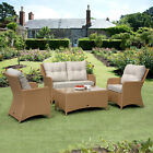 Rattan Garden Furniture 4 Piece Patio Set Aluminium High Qaulity Fully Assembled
