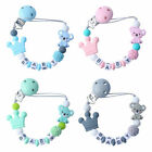 Handmade Personalized Pacifier Clip Nipple Silicone bead Baby teething toy