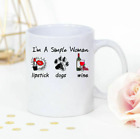 Lipstick dogs and wine Im a simple woman lipstick dogs and winelover mug