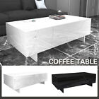 Modern White/Black Coffee Table High Gloss Rectangular Living Room Furniture