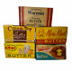 Vintage Butter Advertising 1 lb Empty Box Cartons Dairy  Advertising Lot of 5