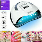 180W Professional LED UV Nail Dryer Gel Polish Manicure Tool Nail Pen Set Kits