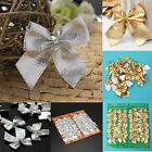 12X+Christmas+Tree+Bow+Decoration++Baubles+XMAS+Party+Garden+Bows+Ornament+DSH4
