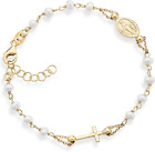 Miabella 18K Gold Over 925 Sterling Silver Handmade Italian 3.5-4Mm White Cultur