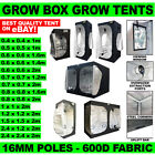 Grow Box Grow Tents With 16mm Poles - 600D Fabric - Range of Heights - Quality