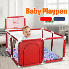 Baby Toddler Kids Playpen Play Pens Room Divider Heavy Duty Foldable Safety