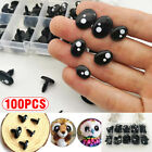 100X For Animal Teddy Bear Doll Cartoon Felting Plastic Safety Eyes Nose Toy
