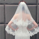 Two Layers Lace Bridal Veil With Comb Women Wedding Bridal Veil White Ivory