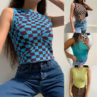 Womens Summer Vest Weave Boob Tube Crop Top Casual Tank Top Trousers Pants UK