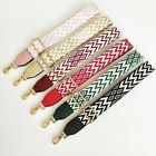 Nylon Bag Strap Geometric Stripes with Leather Shoulder Bag Replacement Belt