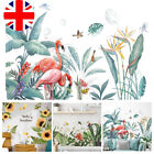 Green Leaves Plant Wall Stickers Decal Nursery Art Pvc Tropical Mural Home Decor
