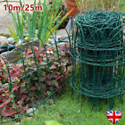 10m/25m Garden Border Fence Lawn Edging PVC Coated Wire Path Plant Grass Beds UK