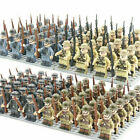 24pcs Military Soldiers France US Britain Army  Weapon Mini figures Toys AA