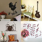 Music Wall Stickers! Modern Instrument Home Vinyl Transfer Graphic Decals Decor