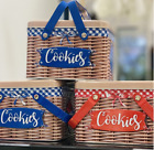 Retro Design Metal Oval Candy Biscuit Cookie Kitchen Storage Tin Box Canister US