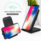 Qi Wireless Charger Dock With Cooling Fan For iPhone 12 Pro Max XR Plus Samsung