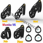 New Mamba Double-Arc Cuff Rings Games Men V6 Male Cobra Chastity Cage Device