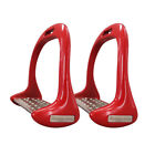 SAFETY BENDY STIRRUPS IRONS STAINLESS STEEL HORSE RIDING 6 COLOURS