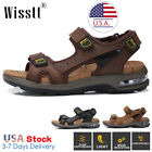Men's Leather Fisherman Air Sandals Beach Sports Shoes Water Shoes Outdoor Shoes