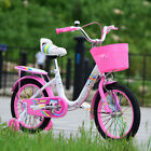 Kids Bike 12/14/16 inch Children Girls Pink Cycling Bicycle Removable Stabilizer