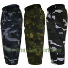 Mens Camo 3/4 Length Army Combat Trouser Shorts Cargo Pants Camouflage Shorts