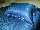 1 pc 22MM 100% Silk Jacquard Pillow Sham Blue Standard Queen King