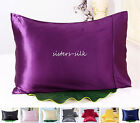 1 pc 30MM Heavy Weight Silk Pillowcase Standard Queen King Multicolors