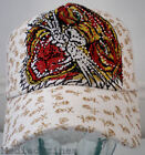 NEW HIPHOP TIGER CAT HARDY COMIC BASEBALL HAT CAP WHITE