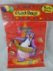 Pack of 6 Large Novalty Party LOOT Bags, NEW, D99631