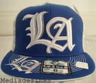 NEW BLING HIP HOP BLUE FITTED FLAT BASEBALL HATS CAPS