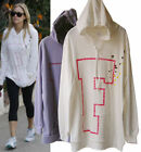 h93 Celeb style Soft Loose Long Kangaroo pocket Hoodie