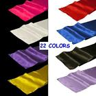 """20 Pack 12"""" x 108"""" Satin Table Runners 22 Colors Wedding Banquet Made in USA"""