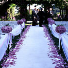 "50 ft Satin Fabric Aisle Runner 22 Colors Extra Wide 60"" Wedding"