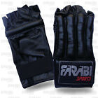 REAL LEATHER PUNCH BAG MITT KICK BOXING SPARING GLOVES MUAY THAI MMA TRAINING