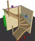 Oak Staircase > 6 kite Winder Stair & Posts