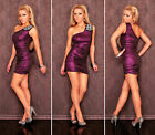 New Women Style Bandage Jewel Diamante Cocktail Celeb Dress Color Purple Black