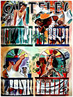 """223.Cuban Quality Design poster""""Solar Fight""""Hot pinup girl.Vitrales."""