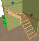 Pine open Staircase > 3 kite Winder Stair