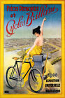 1900 CYCLES BRILLANT BICYCLE EXPOSITION UNIVERSELLE PARIS VINTAGE POSTER REPRO