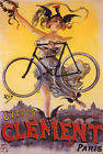 BICYCLE BIKE GIRL CYCLES CLEMENT PARIS GOODESS OF VICTORY VINTAGE POSTER REPRO $19.75 USD on eBay