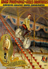 BICYCLE RIDING DOWN STAIRS CIRCUS AMERICA GREATEST SHOW VINTAGE POSTER REPRO