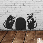 Banksy Rat Doormen Stencil Rats Reusable Craft Airbrush Wall Decor Printing Art