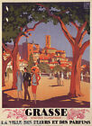 GRASSE PROVENCE FRANCE FLOWERS PERFUMES REPRO POSTER