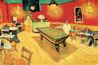 NIGHT CAFE POOL TABLE FRENCH GOGH REPRO CANVAS PAPER