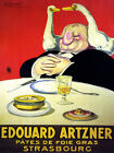 FRENCH GEESE FOIE GRAS PATE ARTZNER VINTAGE REPR POSTER