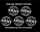 Proud Army Vinyl Car Decal Mom Dad Sister Brother Wife