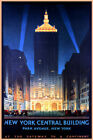 NEW YORK CENTRAL BUILDING PARK AVENUE TRAIN STATION TRAVEL VINTAGE POSTER REPRO