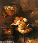 THE CAT'S PAW MONKEY CAT ANIMAL PAINTING BY EDWIN HENRY LANDSEER REPRO